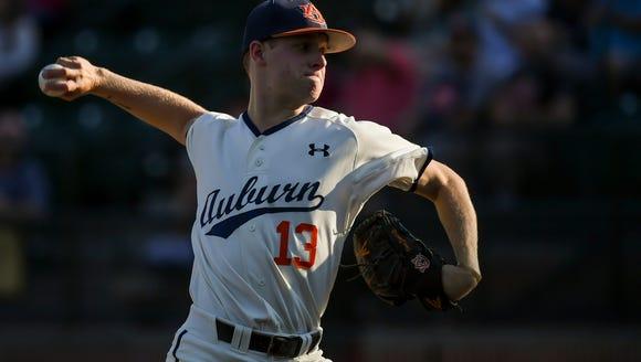 Davis Daniel Auburn baseball vs Ole Miss on Friday,