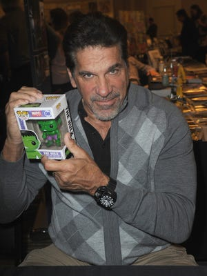 Lou Ferrigno attends The Hollywood Show held at Westin LAX Hotel on Feb. 10, 2018 in Los Angeles, Calif.\