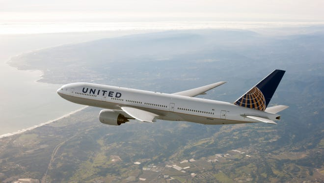 This undated file photo shows at United Airlines Boeing 777 aircraft.