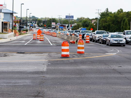 Crews working on the Bridge Over Broad project will be shifting northbound Broad Street traffic closer to the curb by Thursday, weather permitting.