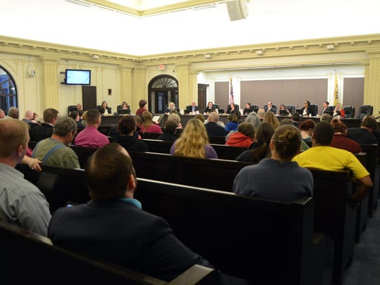 A large crowd made for a lengthy public comment period