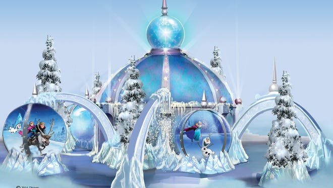"The Mall at Short Hills unveiled its interactive ""Frozen"" ice palace Nov. 6."