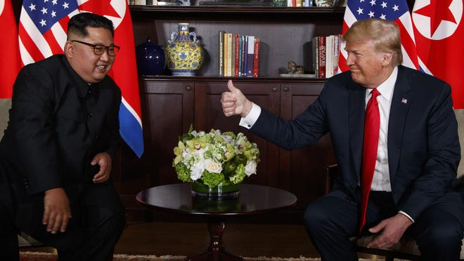 President Donald Trump and North Korea's Kim Jong Un are beginning their second nuclear summit with a one-on-one discussion and an intimate dinner as hard questions swirl about what the American president will demand and Pyongyang might be willing to give up.