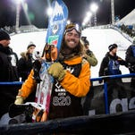 Milford native Danny Davis is all smiles after capturing the X Games gold medal in the super pipe in Aspen.