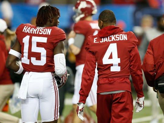 Alabama defensive back Eddie Jackson was on the sidelines