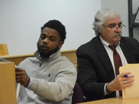 Dawan Gordon with his attorney, James Mequio.