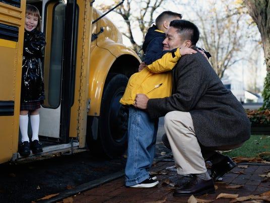 school bus hug