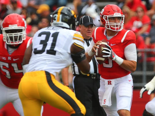NCAA Football: Iowa at Rutgers