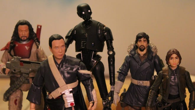 "Figures representing ""Rogue One"" characters are seen in a frame from Ian McDonough's prize-winning video, ""One Force."""