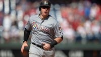 The NL East-leading Philadelphia Phillies have acquired first baseman Justin Bour from the Miami Marlins for a minor league player