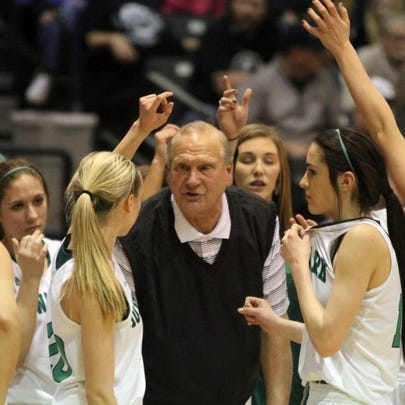 Wichita Falls Times Record News   Iowa Park coach Marc Case talks to his players during a timeout in the District 5-4A opener against Wichita Falls Hirschi on Jan. 8 in Iowa Park. Case's Lady Hawks play No. 7 Wylie at 6 p.m. Monday in a Region I-4A bi-district playoff game in Graham.