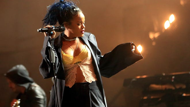 Rihanna performs onstage during CBS RADIOs third annual We Can Survive, presented by Chrysler, at the Hollywood Bowl on October 24, 2015 in Hollywood, California.
