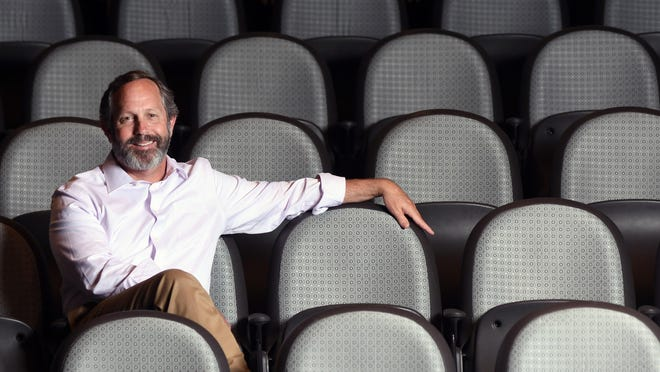 Wilmington actor and director Ed Wagenseller in the main theater at the Cultural Arts Building on the campus of UNCW.