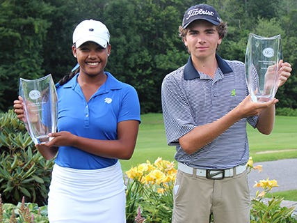 Kyra Cox of South Salem, New York, and Nicholas Cummings of Weston, Massachusetts, took home the hardware after each firing low final-round scores