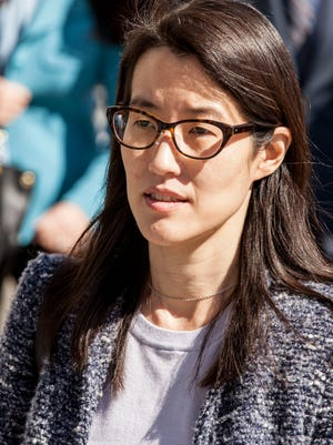 Ellen Pao, a former venture capitalist at Kleiner Perkins Caufield and Byers, arrives at the San Francisco Civic Center Courthouse  in San Francisco, CA on Tuesday, March 3, 2015.