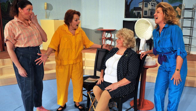 "The cast of six includes Becky Behl-Hill, as ""Shelby"", Dee Quinn, as ""Ousier"" Pam Quenzler, as ""Clairee"", and Tina Coppock, as ""Truvy"". Rehearsals for ""Steel Magnolias"", by Robert Harling, which will be performing at the Surfside Playhouse in Cocoa beach from October 23- November 8."