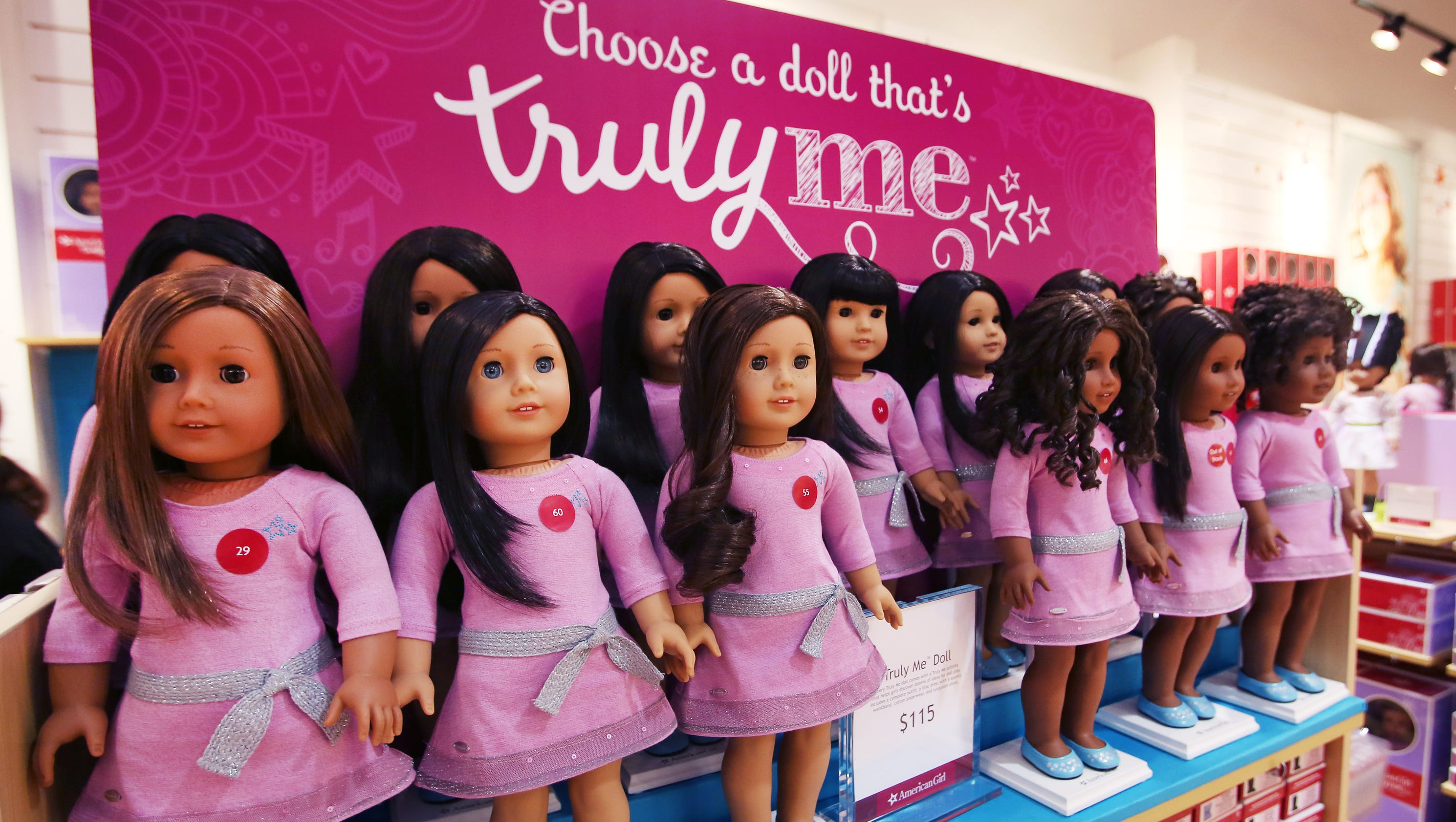 American Girl dolls through the years