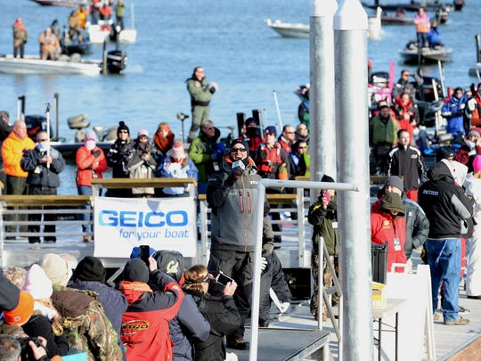 Casey Ashley sings the National Anthem during the opening day of the Bassmaster Classic at Green Pond Landing in Anderson in 2015. The tournament returns to Green Pond in 2018.