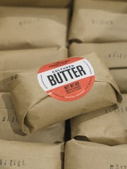 Packages of Ploughgate Creamery butter made by Marisa Mauro at Bragg Farm in Fayston.