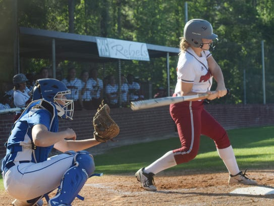 A Pineville hitter looks to get a hit against East