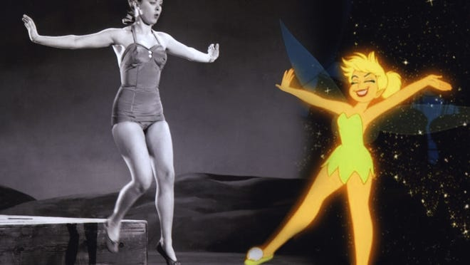 Margaret Kerry modeling for Tinker Bell.