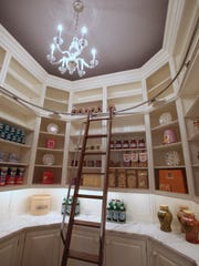 The pantry at the Frick Estate, a new stone mansion in Alpine, N.J. March 28, 2014. Interior designer Terence Mack of Sparkill did the interior design and staging at the house.