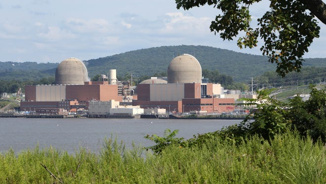 Indian Point nuclear power plant in Buchanan, as seen from across the Hudson River in Tomkins Cove .