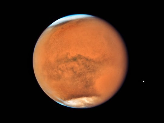 The Hubble Space Telescope took this photo of Mars