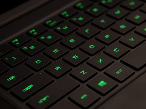 The keyboard has generous spacing and travel, which