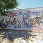A mural at 201 Wall Street.