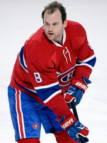 Montreal Canadiens forward Zack Kassian (8) skates