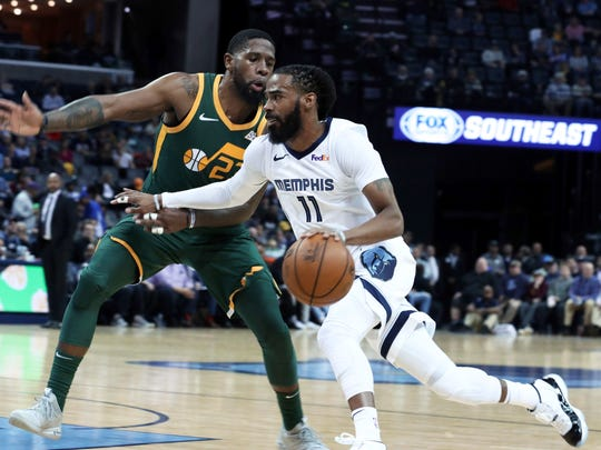 Memphis Grizzles G Mike Conley (11) may be a future target for the Utah Jazz following the Grizzlies' reception of the No. 2 draft pick during the NBA Draft Lottery.