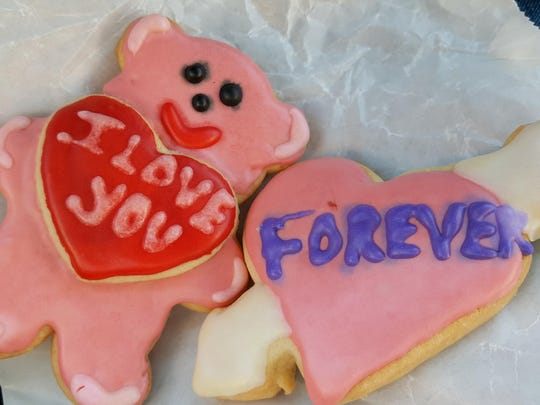 Valentine's Day sugar cookies at The Shed Old Mesilla Pastry Cafe.