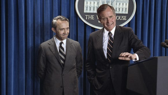 President George H. W. Bush and David Souter in 1990.