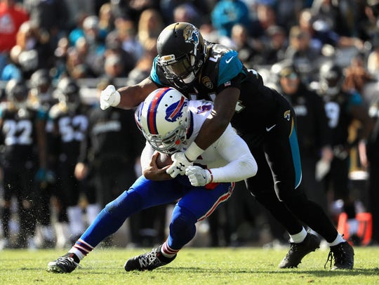 Tyrod Taylor very likely played his last game for the Bills in the wild-card loss to Jacksonville.