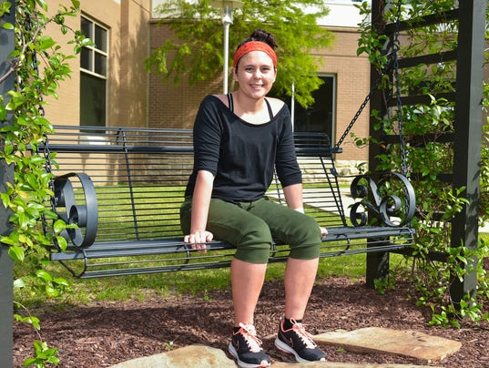After all the hard work in rehab following her brain surgery, Melissa Greiwe is strong enough to step outside to get some fresh air.