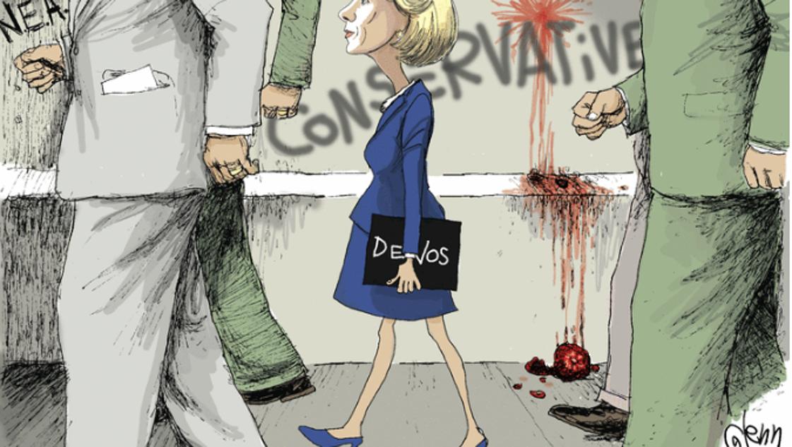 Provocative Cartoon Links Betsy Devos And Ruby Bridges