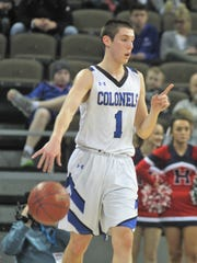 CovCath senior CJ Fredrick calls a play during a Ninth