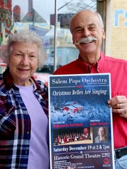 Romona and Hale Thornburgh came down to spread the word about the Christmas Belles Are Singing concert this Saturday at the Historic Grand Theatre.