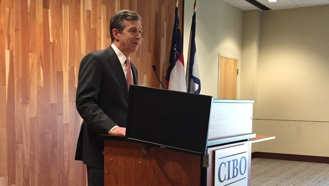 State Attorney General Roy Cooper speaks to the Council of Independent Business Owners this spring.