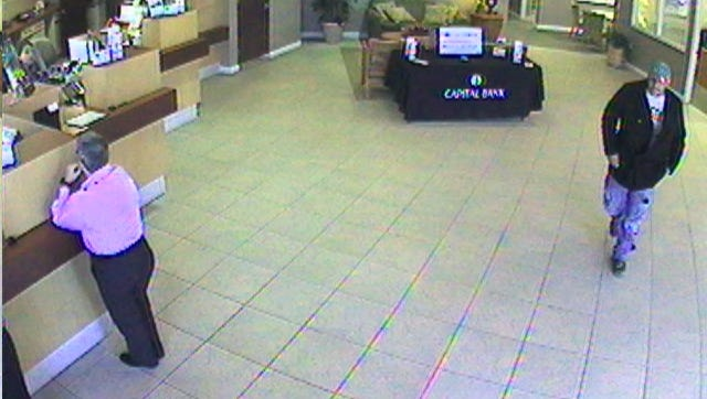 Authorities are searching fir this man they say robbed a bank Thursday.