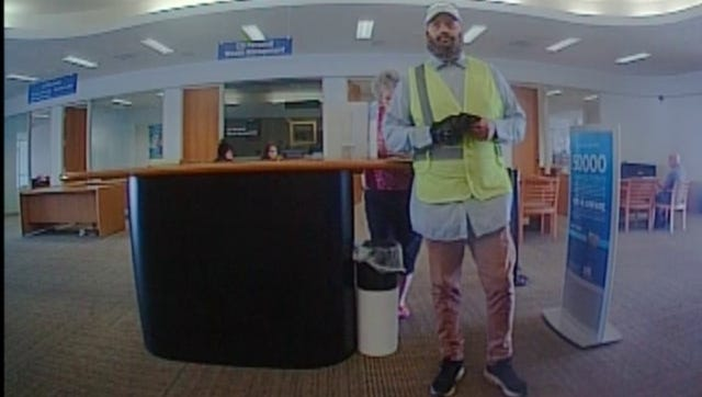 Camarillo police released photos of a man they allege robbed a bank in the city last week.