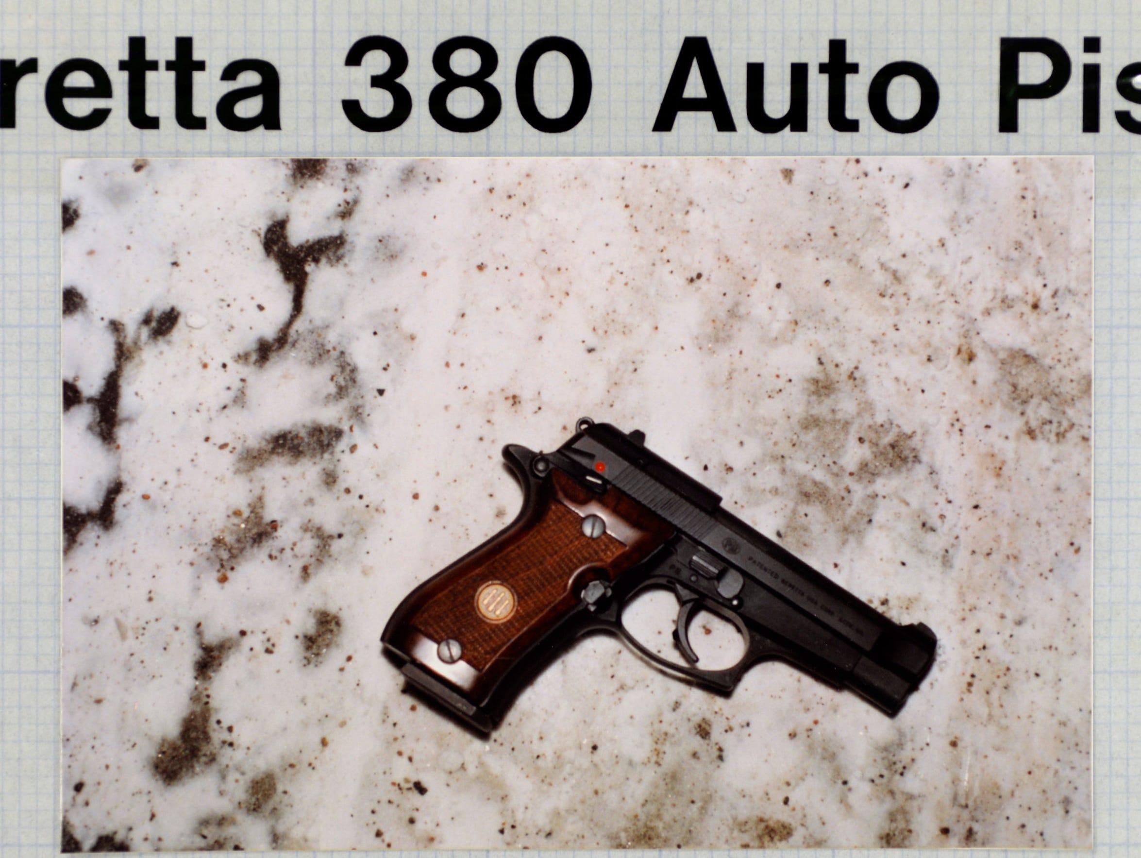 The handgun found where Thomas Kantor was shot by a
