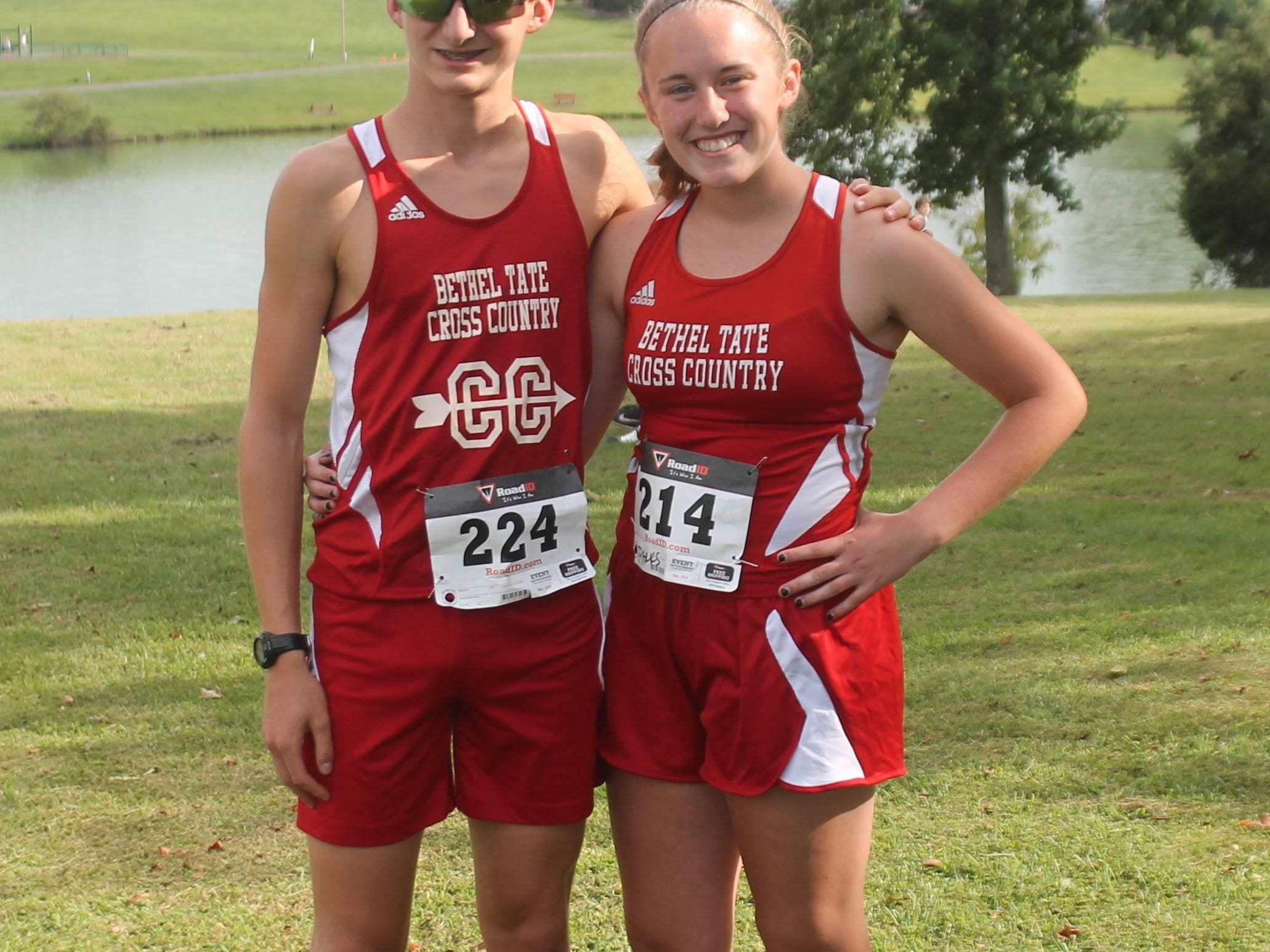 Bethel-Tate sophomores Jackson Coates and Allison Parks are the top runners for the school. Coates won the boys race Aug. 26 at Washington Township Park.