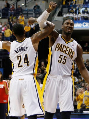 Pacers stars Paul George and Roy Hibbert both could make the All-Star Game this season.