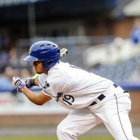 Asheville outfielder Omar Carrizales leads the South Atlantic League in batting with a .328 average.