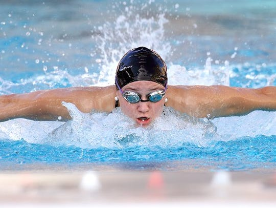 Former Cedarburg High School swimmer Katie Drabot,