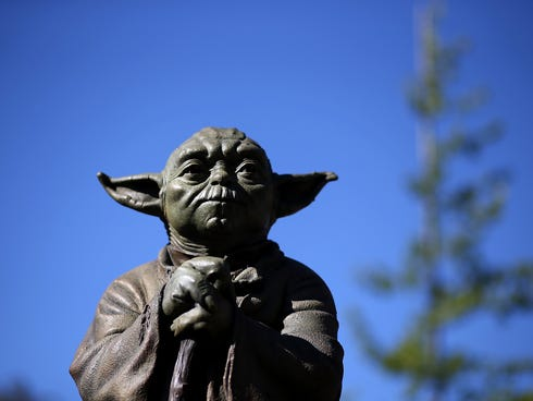 San Anselmo's Imagination Park, located on land donated by George Lucas, features a bronze Yoda and Indiana Jones.