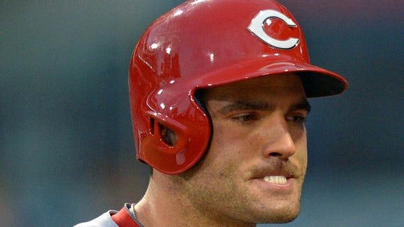 Reds first baseman Joey Votto reacts after striking out during the third inning Monday against the Padres.