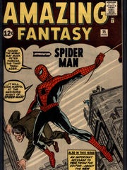"""The cover of the first Spider-Man comic, """"Amazing Fantasy"""
